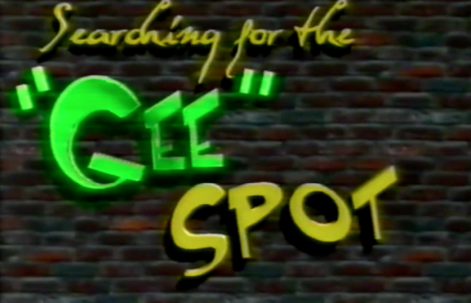 Searching For The Gee Spot