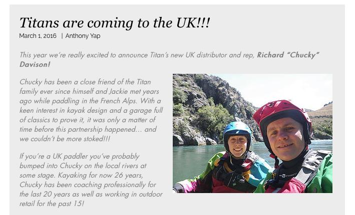 Titan Kayaks Launch In The UK