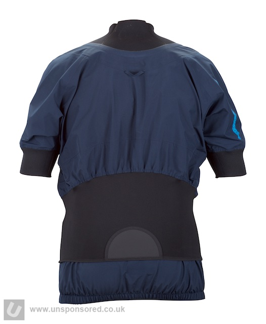 You get the highly adjustable and effective twin waist seal as seen on other Sweet whitewater tops.
