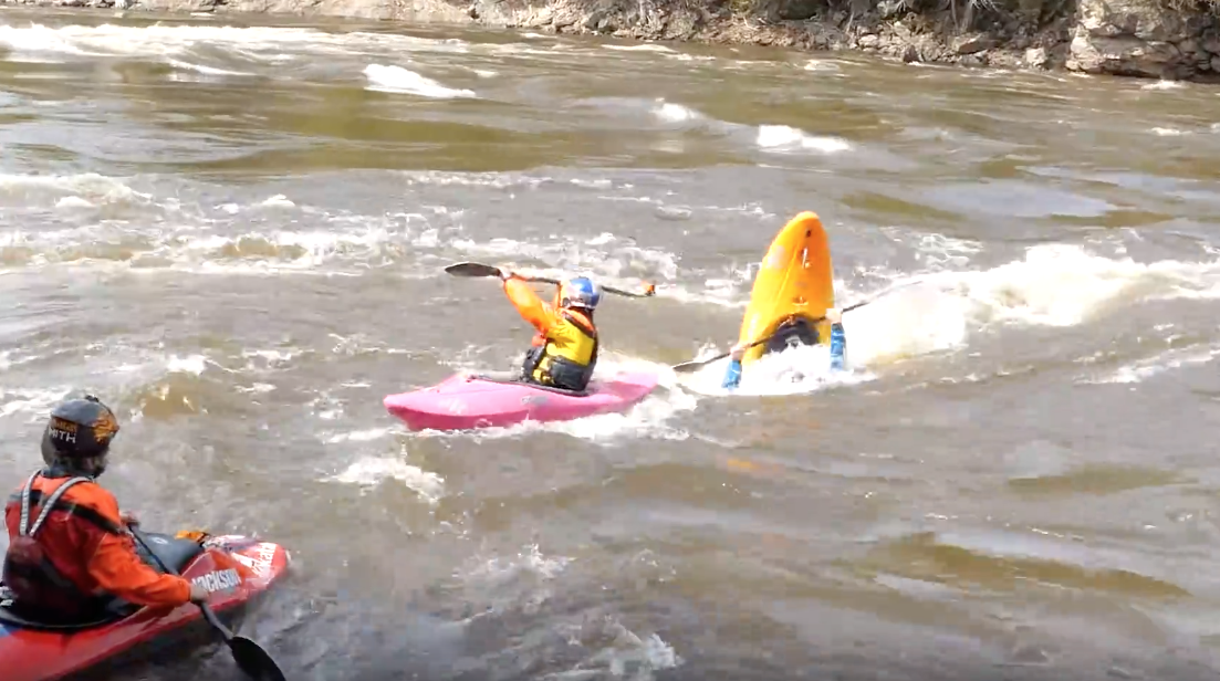Kayakers vs Whirlpools