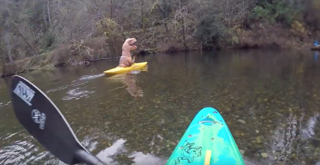 Thomas Rex Goes Kayaking